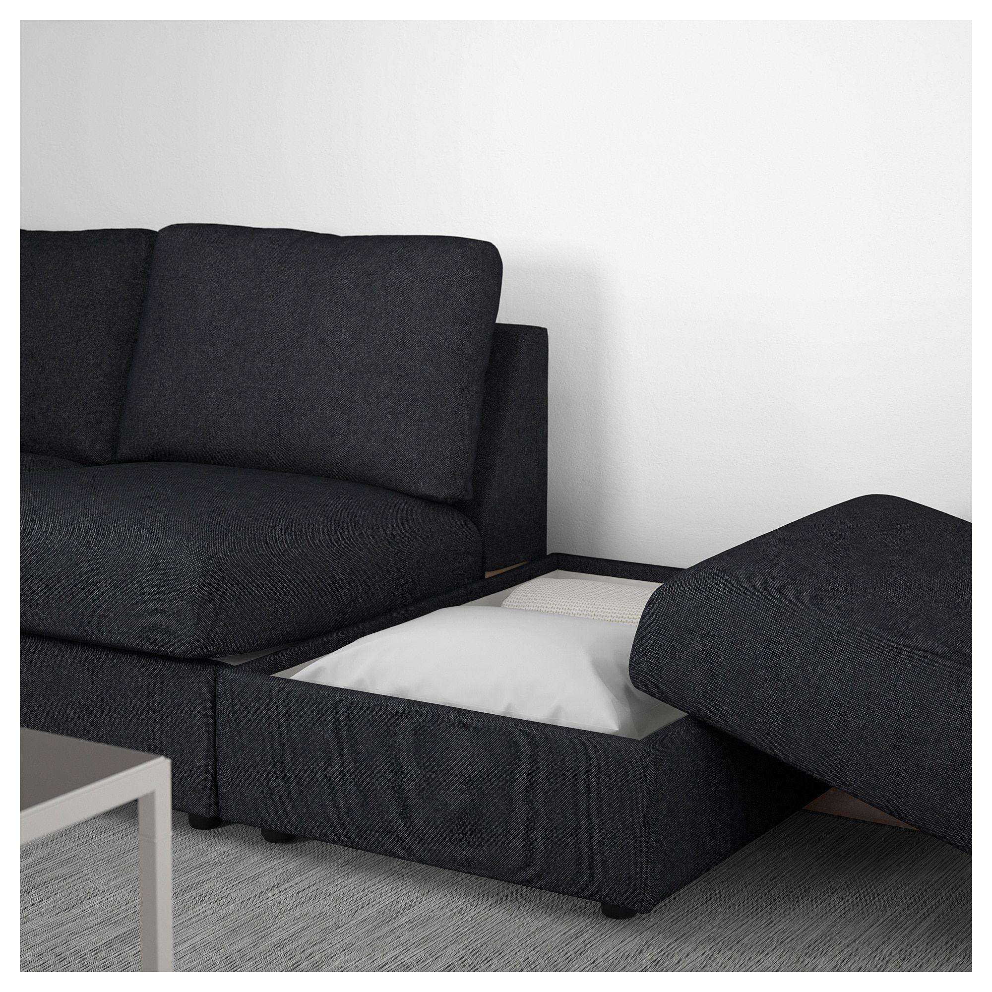 Vimle Ecksofa 3 Sitzig Ohne Abschluss Tallmyra Schwarz Grau 3er Sofa Modulares Ecksofa Und Sofa