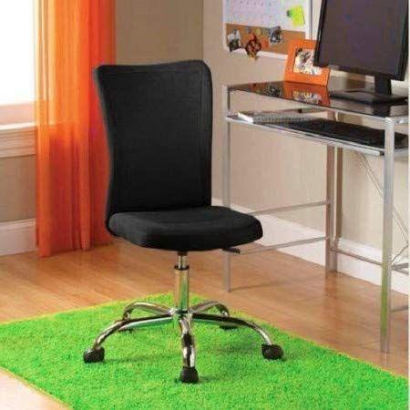 Swell Armless Desk Chair Ergonomic Cute Black Height Adjustable Download Free Architecture Designs Grimeyleaguecom