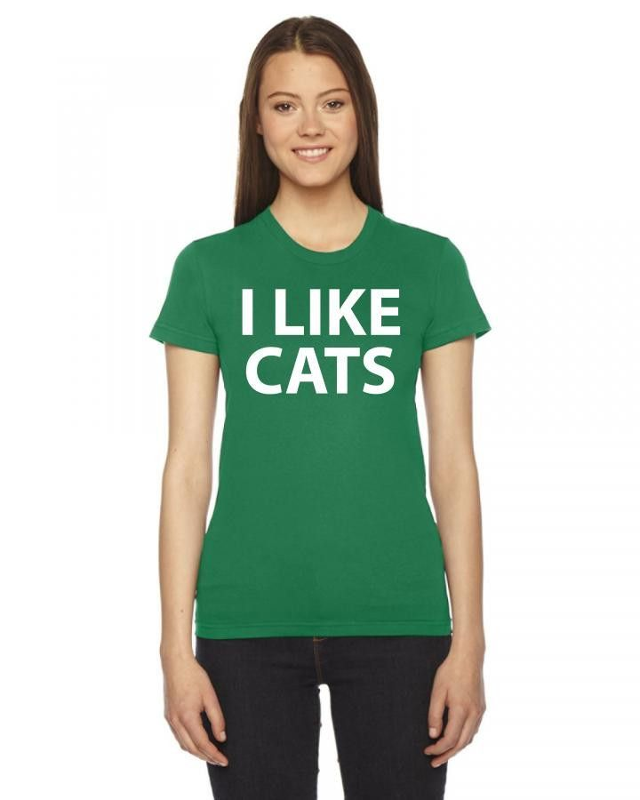 i like cats t shirt design 1 Ladies Fitted T-Shirt