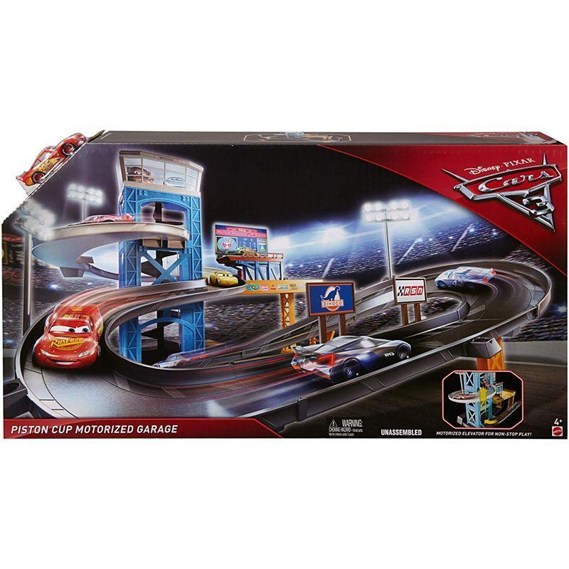 Disney Pixar Cars 3 Piston Cup Motorized Garage Fcx97