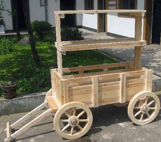Accent Wagon Display Planter Wagon Display Wood Display Wagon Planter Wood Wagon Wood Cart