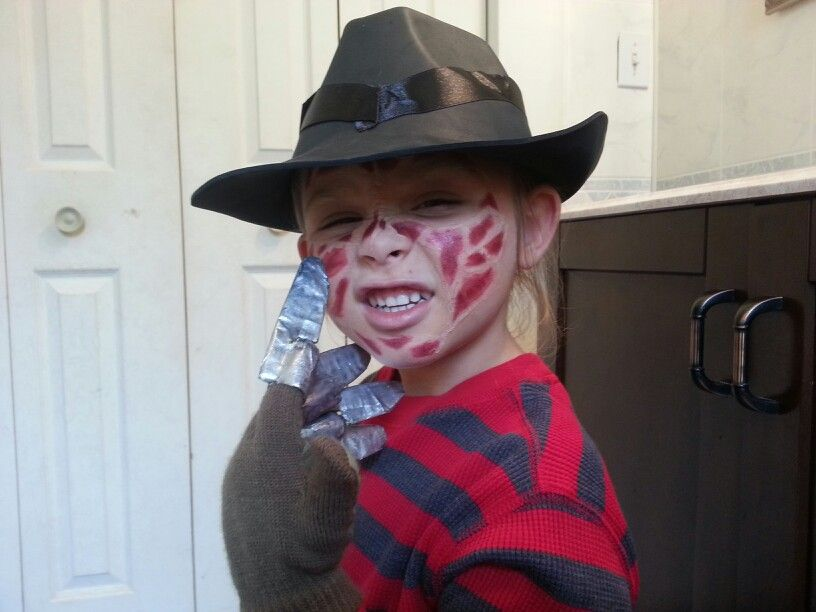 Fun Freddy Krueger Kids Costume Fall Fetish Pinterest Freddy Krueger Costumes And