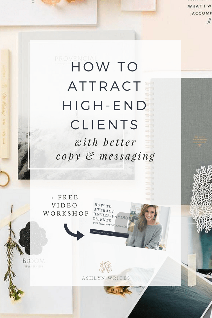 How To Attract High End Clients Copywriting Training With Creative