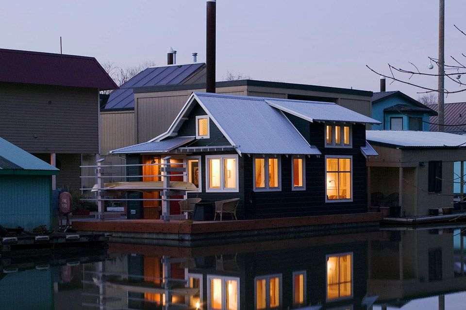 Floating Home Tender Small House Swoon Floating House Small