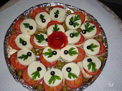 закуски рецепты и оформление с фото на праздничный стол