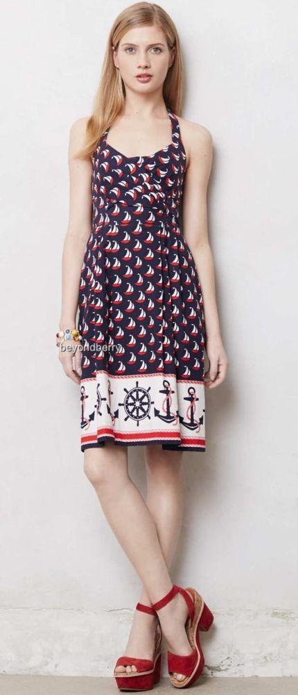 7bba8ca9ba6 NEW Anthropologie Postmark Windward Halter Dress Size 0-2-4-6-8-10 ...
