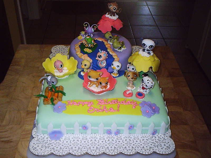 littlest pet shop cakes | Littlest Pet Shop Birthday Cake — Children's Birthday Cakes