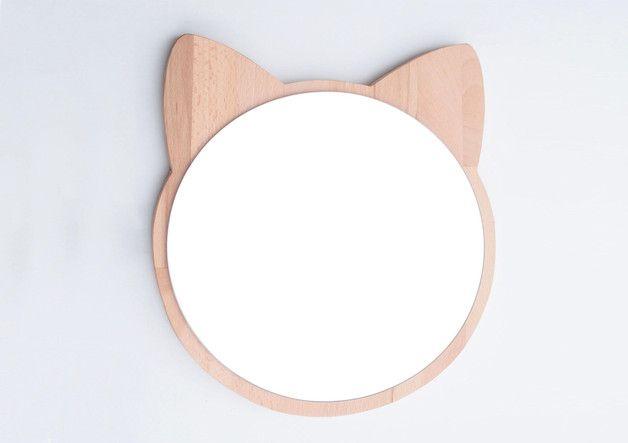 Espejo en forma de gatito deco muebles ni os muebles for Espejo retrovisor para ninos