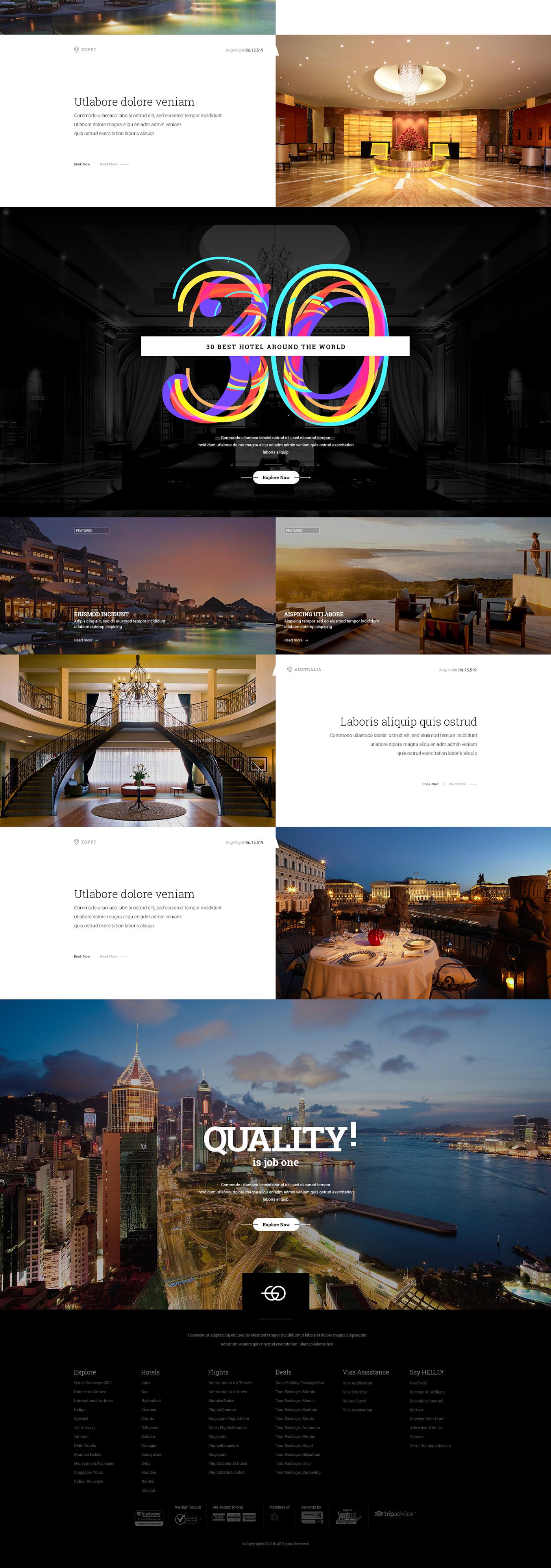 GO   Travel Portal on Behance