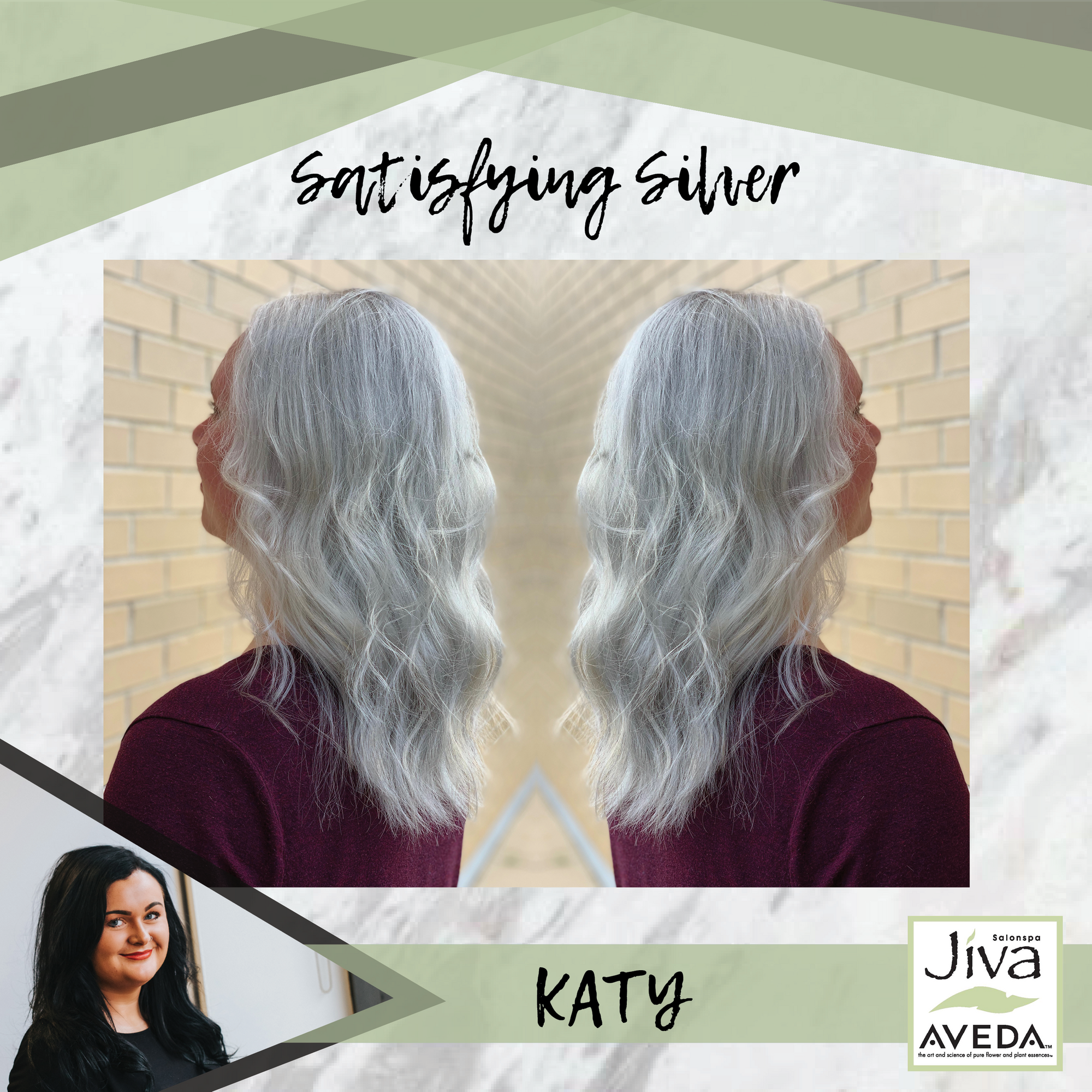 Achieving This Color Was A Process But The End Result Is So Satisfying Avedacolor Jivasalonspa Silver Salon Services Aveda Color Aveda Spa