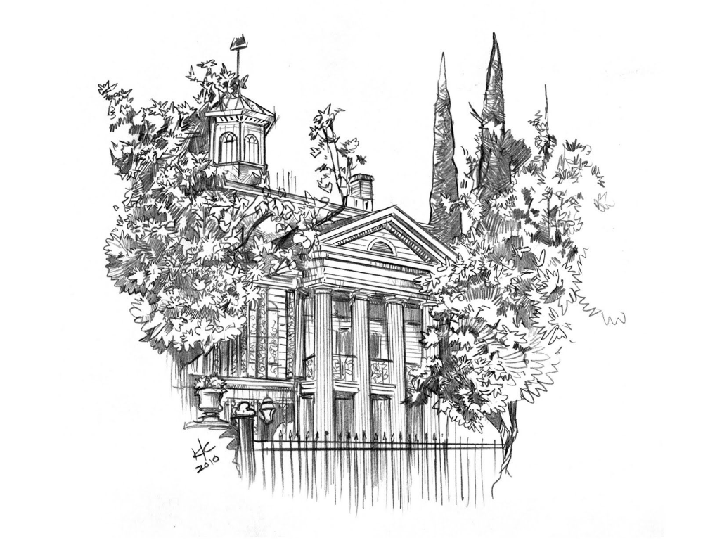 Disneyland Coloring Page High Quality Coloring Pages Coloring Home Coloring Pages Disney Haunted Mansion Haunted House Drawing