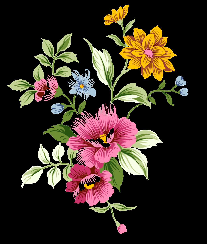 Art Nouveau Bouquet Flowers Arte flor