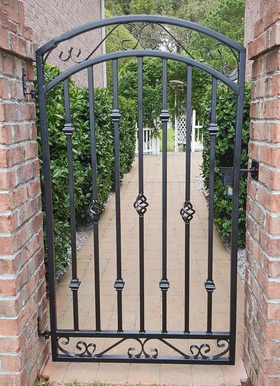 Large Metal Entrance Gate Antique Style Custom 36 W X 60 T