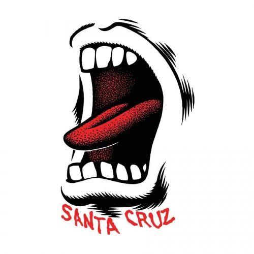 "SANTA CRUZ SCREAMING MOUTH STICKER 3.5/"" X 2.25/"" SPEED WHEELS NEW AUST SELLER"