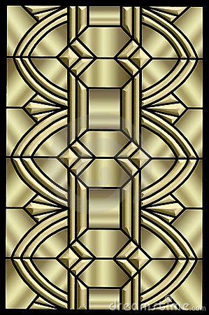Metallic Art Deco Design Stock Images - Image: 8054444   Welcoming ...