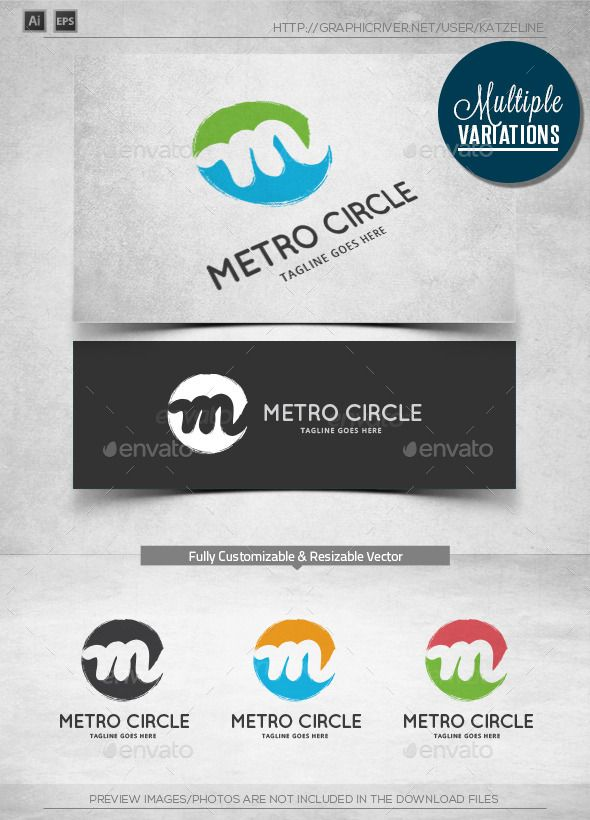 Metro Circle  Logo Template — Vector EPS #fashion #movie • Available here → https://graphicriver.net/item/metro-circle-logo-template/10357244?ref=pxcr