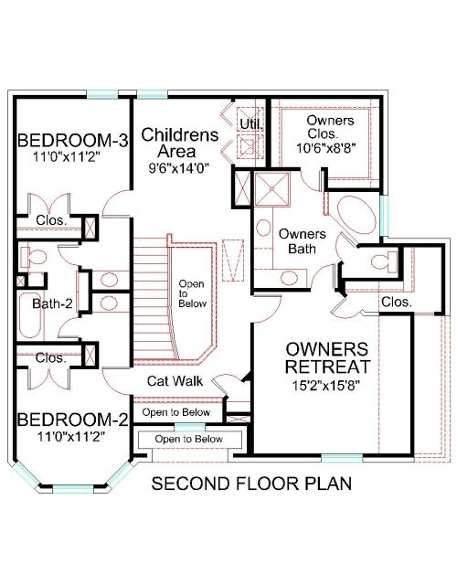 2nd Floor Elevation Design : Second floor plan house hs traditional