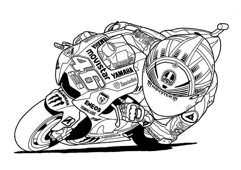 shin terauchi Coloriage moto, Dessin moto, Valentino rossi