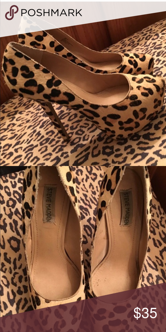 ac8e7a7ed6 Jessica Simpson women's pumps sz.10 leopard These are about a six inch heel  with platform. They are in great condition. They are also a fur leopard  print.