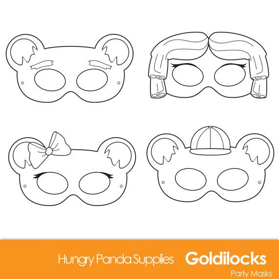 Goldilocks And The Three Bears Printable Masks, Goldilocks costume ...