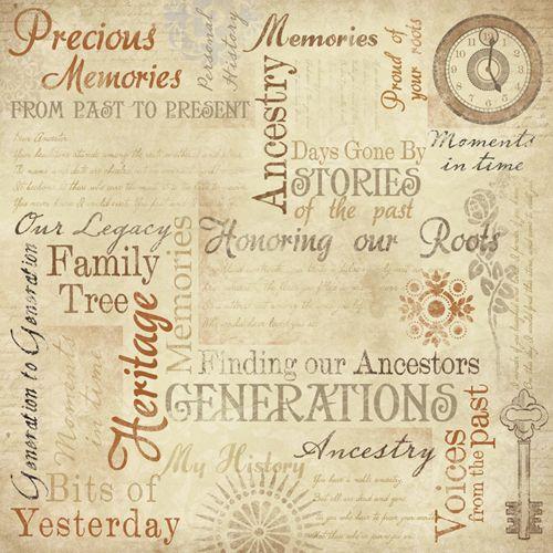 Karen Foster Design Ancestry Collection 12 X 12 Paper Memories Collage Memory Collage Scrapbook Paper Genealogy Scrapbooking