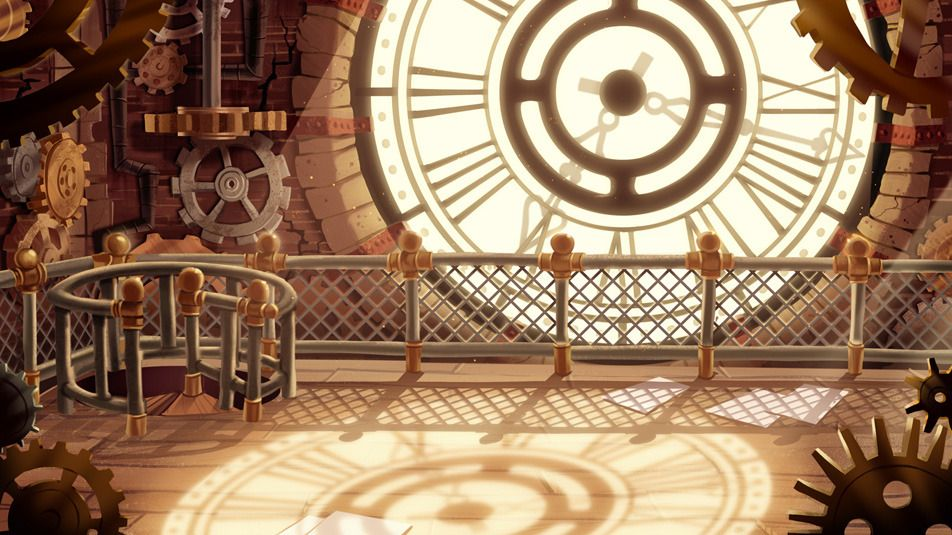 Environments - Educational Game Picture  (2d, cartoon, environment, game art, clock, steampunk, background)