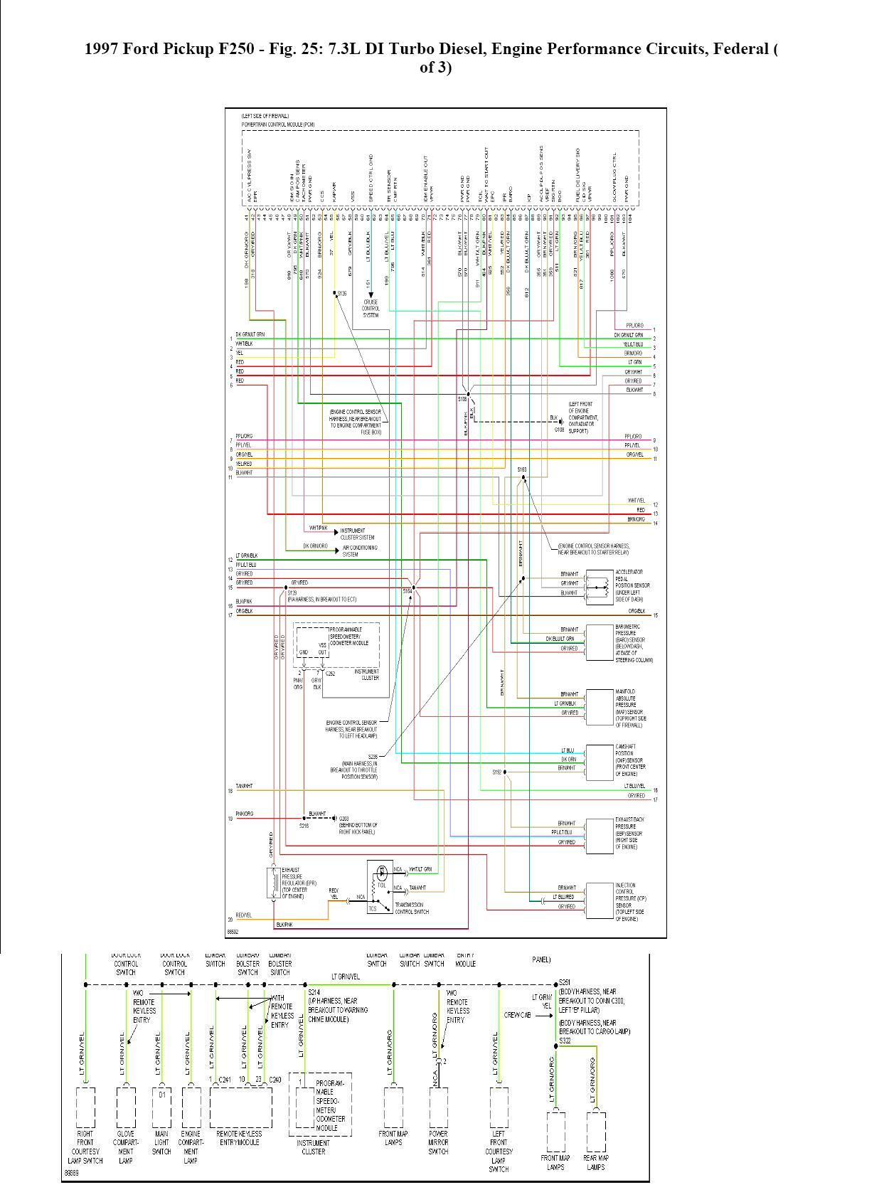 Diagram  Trailer Wiring Diagram Truck Side Diesel Bombers