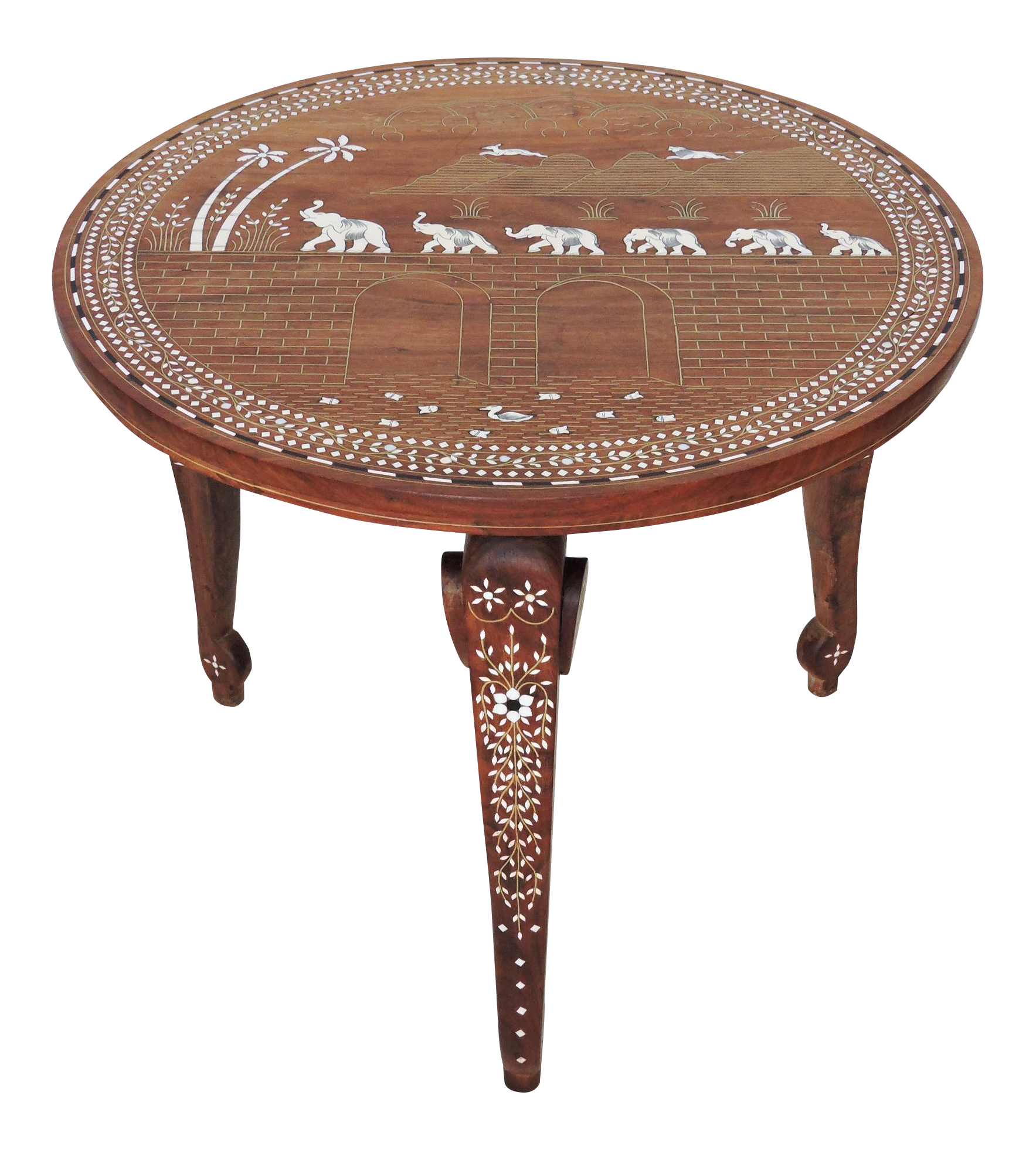Please Feel Free To Contact Us Directly If Interested In This Piece Inlaid Indian Elephant Caravan Table On Chairis Coffee Table Vintage Teak Wood Side Table
