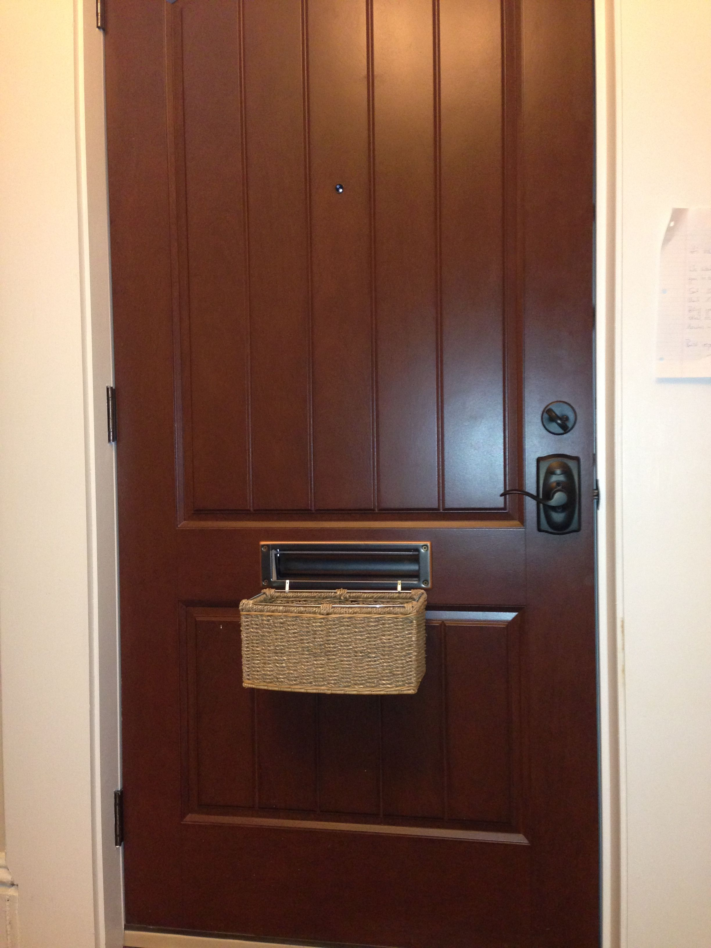 Mail Slot Basket Apartment Decor