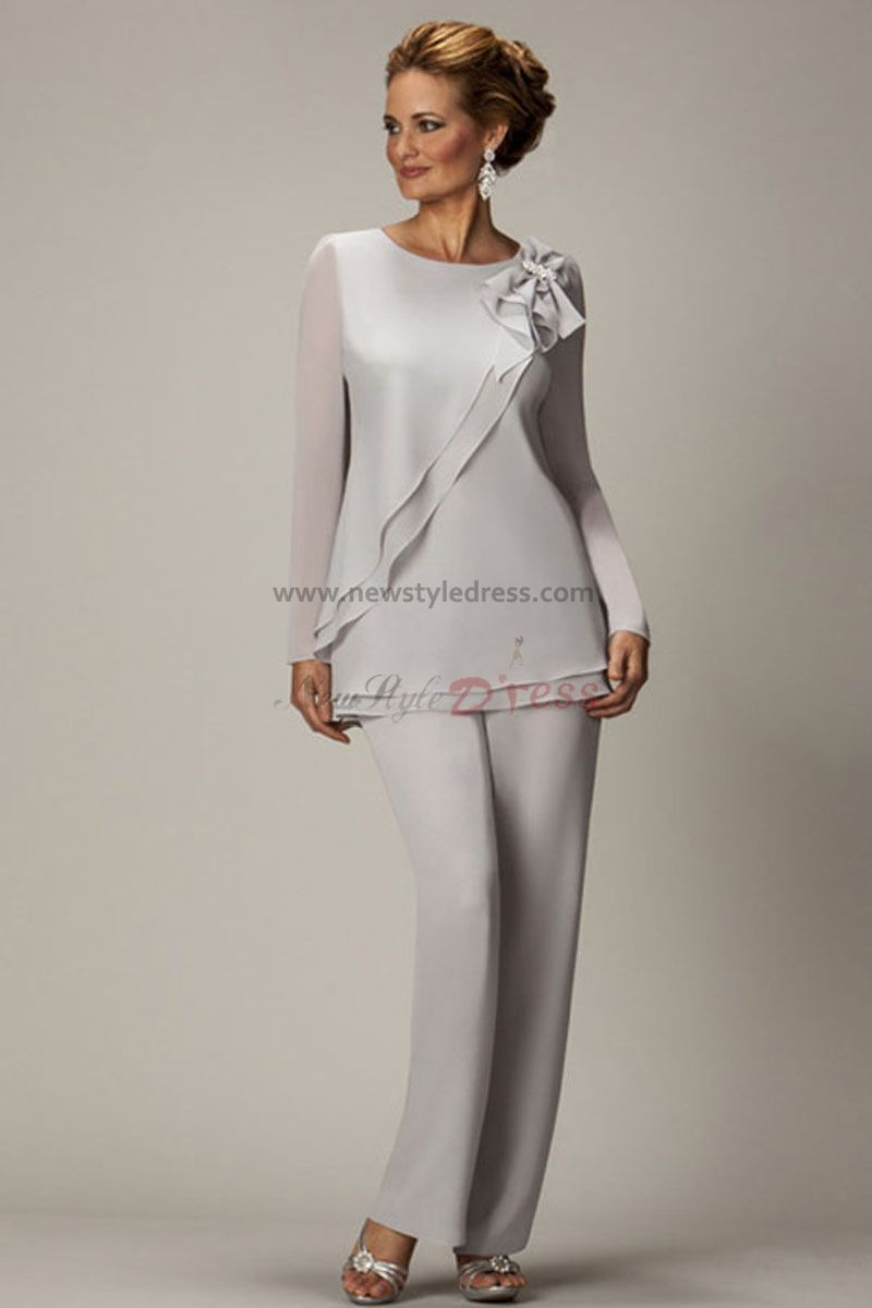 formal mother of the bride pant suits | ... off-white Two piece ...