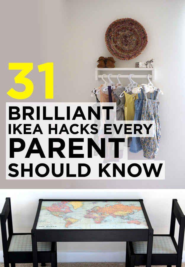 31 brilliant ikea hacks every parent should know home inspiration pinterest kinderzimmer. Black Bedroom Furniture Sets. Home Design Ideas