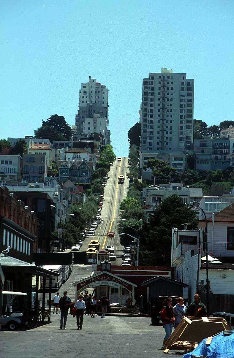 San Franciso. I could not drive here. Going uphill scared the ...