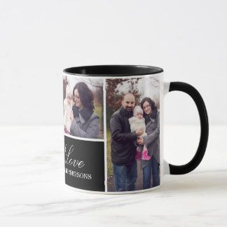 monogram 4 photo collage mug coffee coffee and coffee