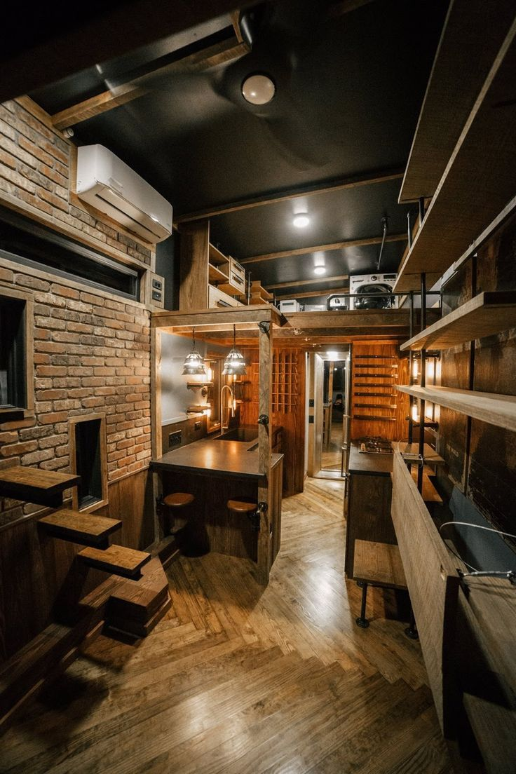 The Rook, An Industrial Chic Tiny House, Deigned And Built By Wind River Tiny  Homes. But Those Stairs Are A Bit Hairy.