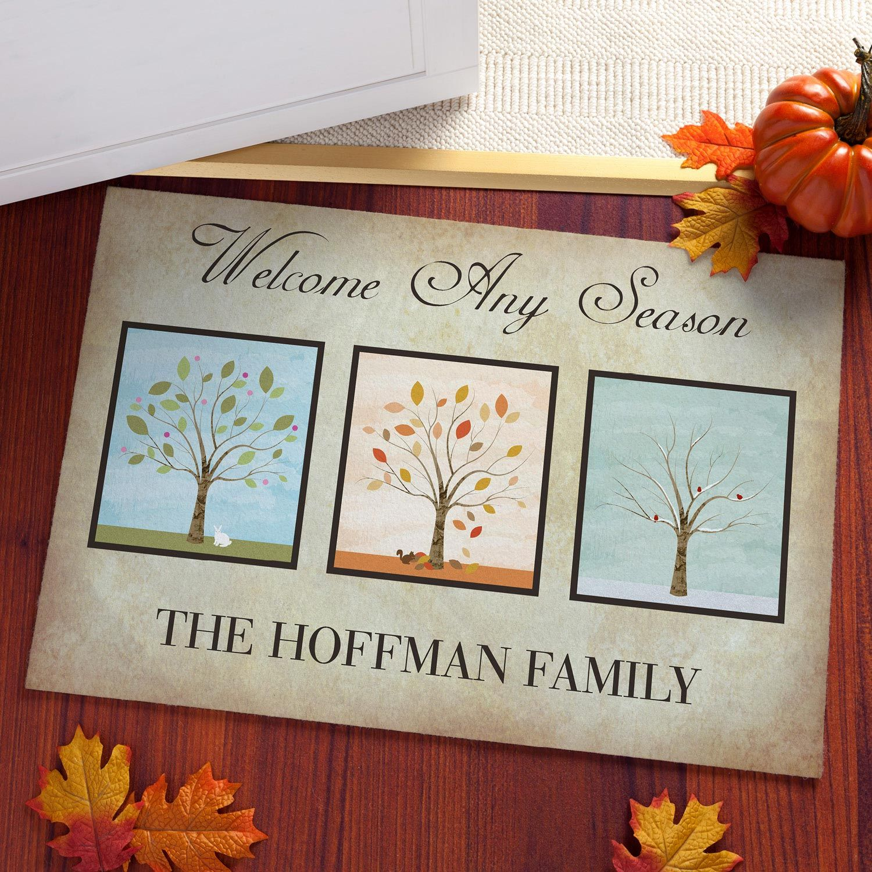 Any Season Personalized Doormat Doormats Home