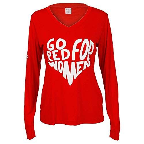 92a1440b788 Go Red for Women Active Performance T-Shirt (XL) American.
