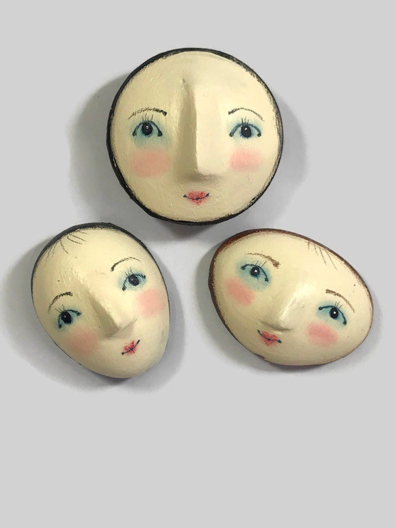 Easy onlineclass doll face painting for julie haymakers DIY | Etsy