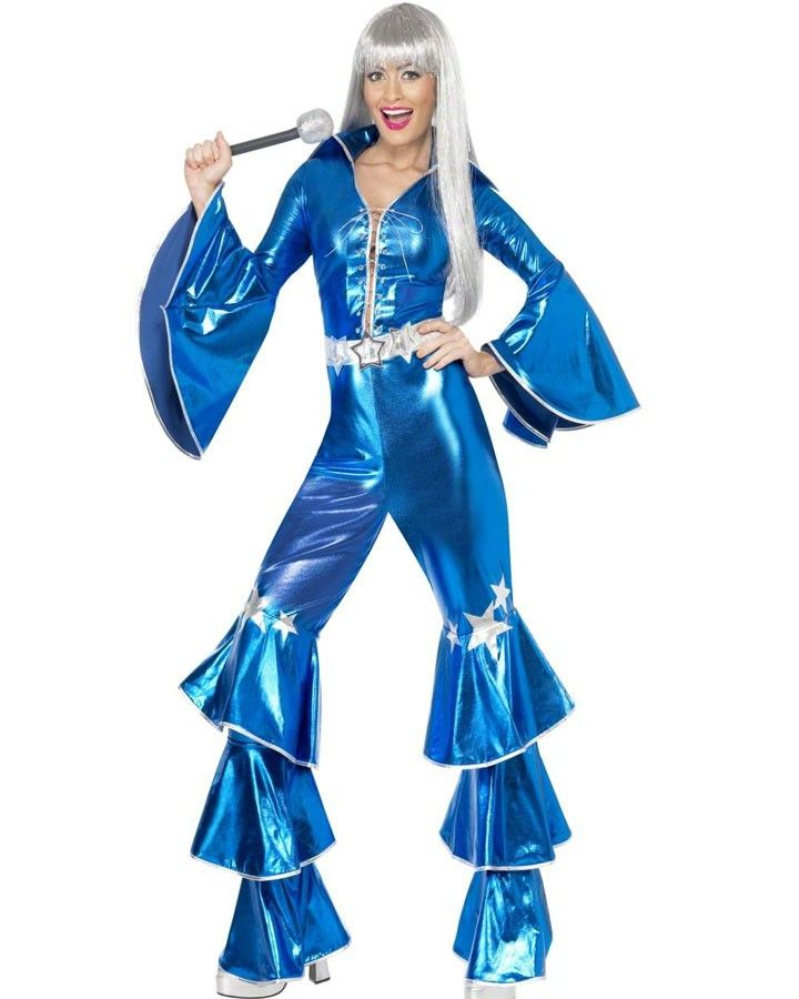 70s blue dancing queen womens costume eurovision party ideas pinterest costumes and queens. Black Bedroom Furniture Sets. Home Design Ideas