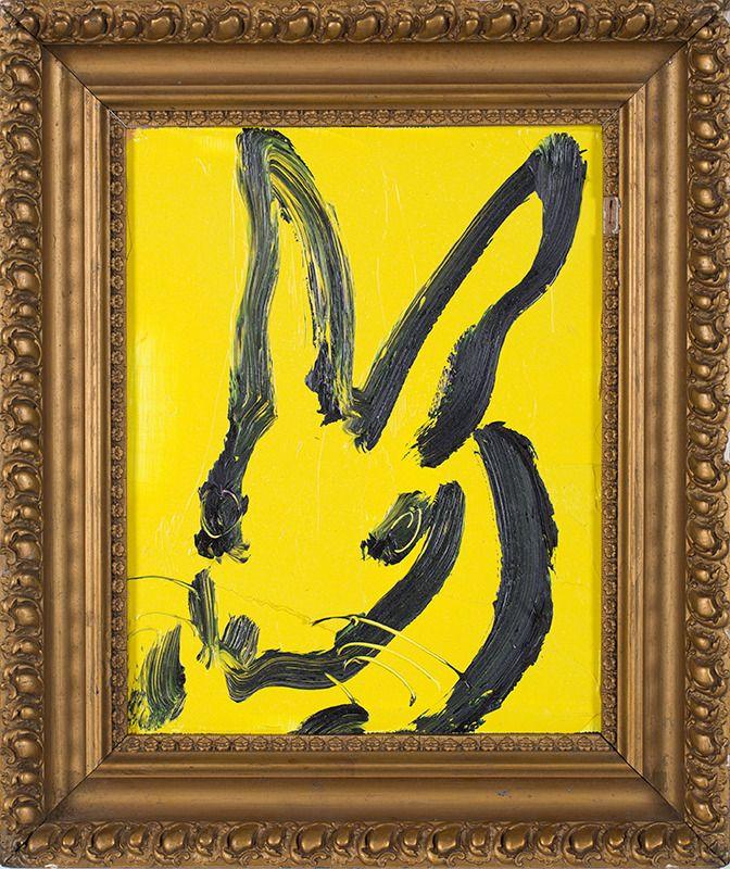 Hunt Slonem - Yellow Bunny | 2013