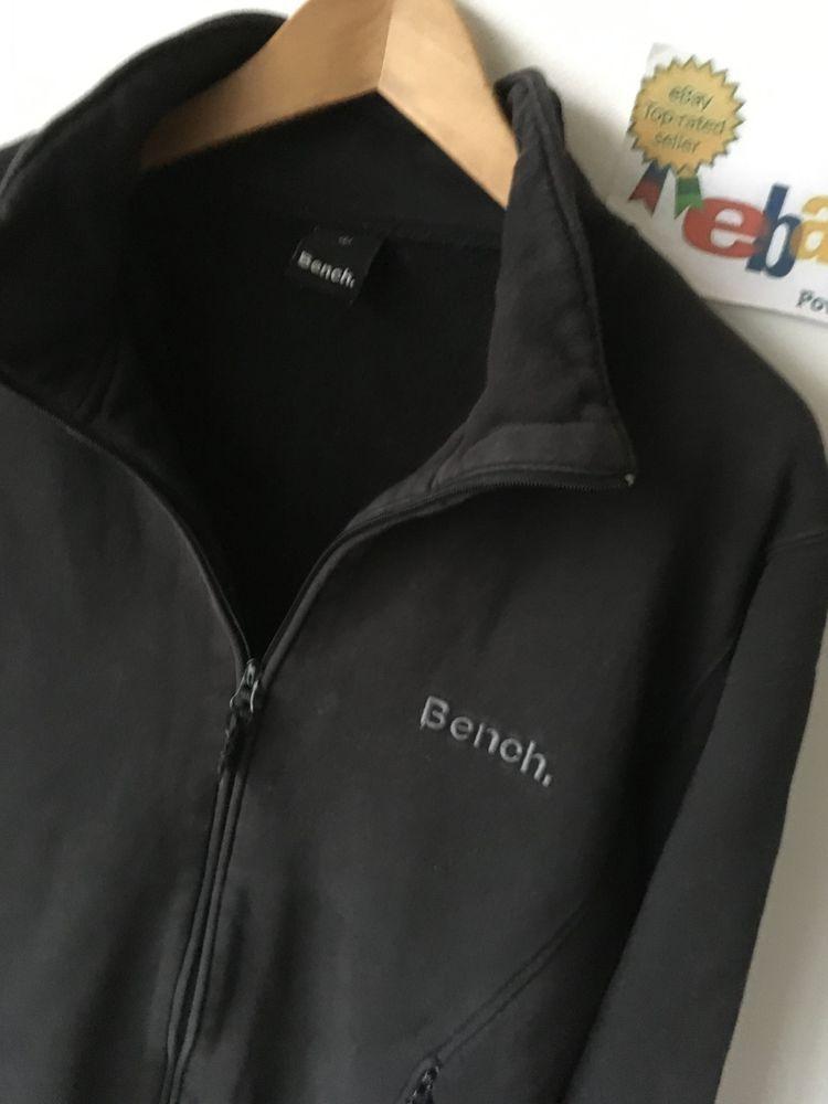 Bench Mens L Large 40 42 Top Designer Black Tracksuit Top Track Jacket Coat Fashion Clothing Shoes Accessories M Tracksuit Tops Tops Designs Coats Jackets