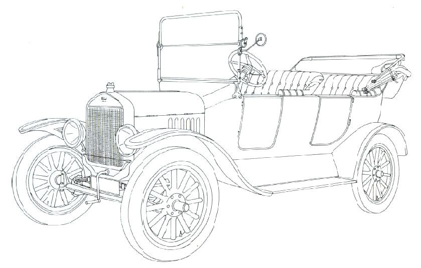Classic Car Coloring Pages Model T Ford Cars Coloring Pages