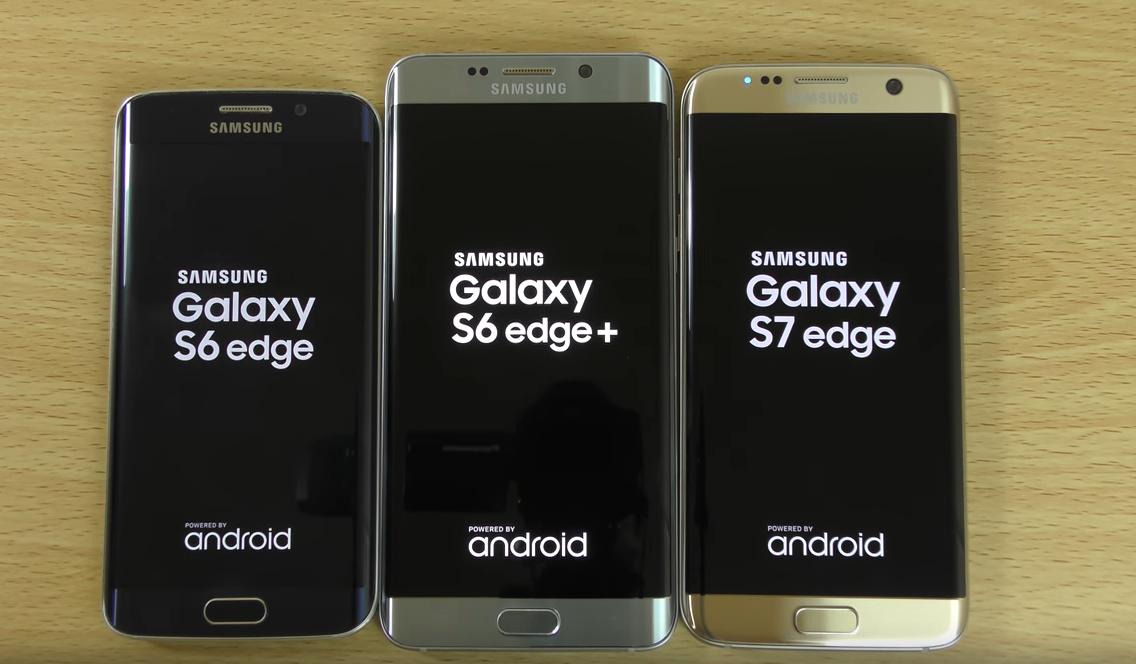 Samsung Galaxy S7 Edge Vs S6 Edge Plus Vs S6 Edge Speed Samsung Galaxy S7 Edge Samsung Galaxy Galaxy