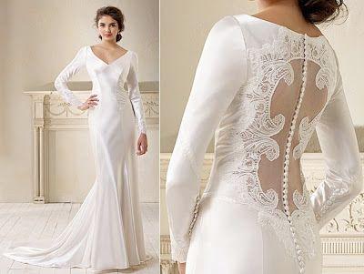 Vestidos de Noiva com Mangas Compridas
