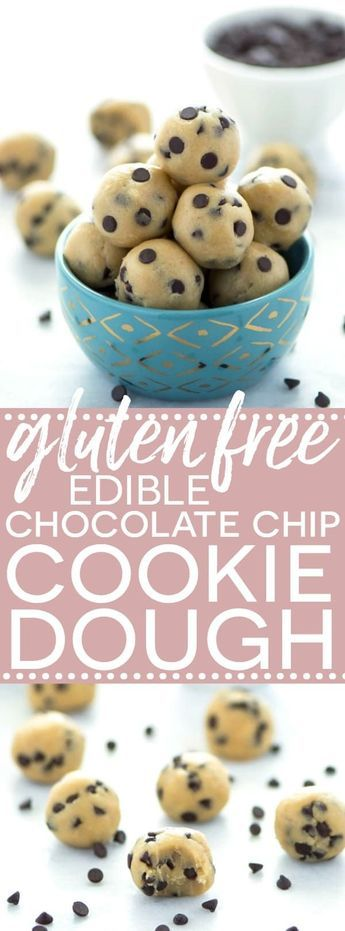 Gluten Free Edible Chocolate Chip Cookie Dough