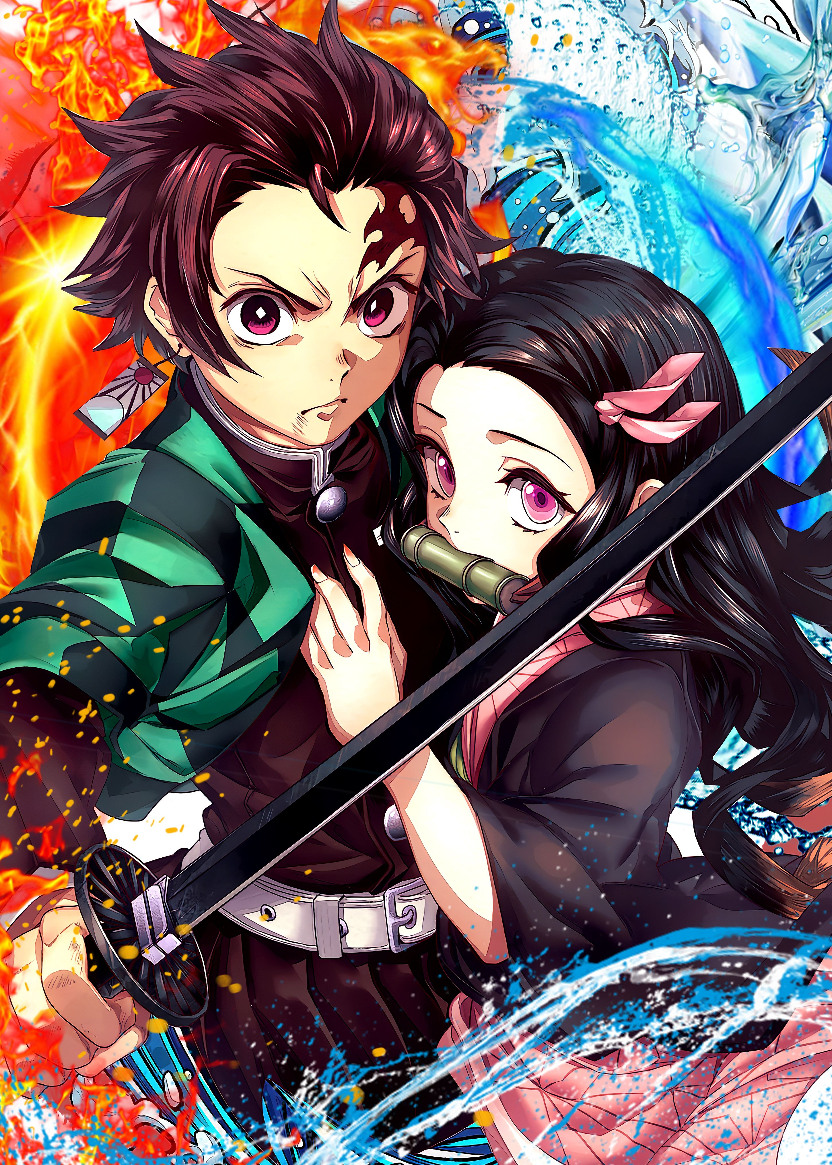 39 Demon Slayer (Tanjiro & Nezuko) Metal Poster in 2020