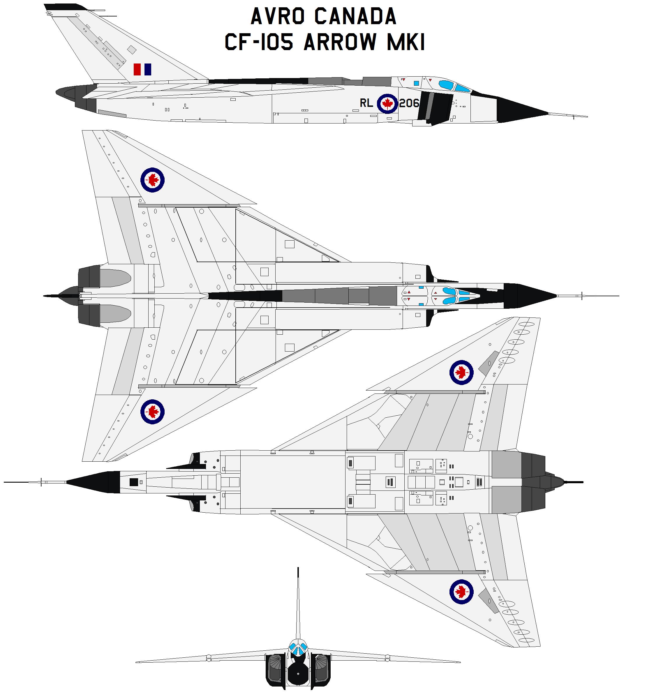 Avro Canada Cf 105 Arrow Mk1 By Bagera Viantart