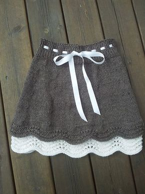 d0806b939 Ravelry: Skjørt pattern by hjertemynthe | Knitting | Ropa tejida ...