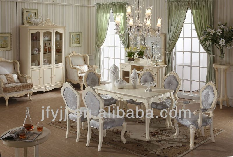 Elegant French Style Dining Room Set Includes Chair And Dining Table, The  Diningu2026
