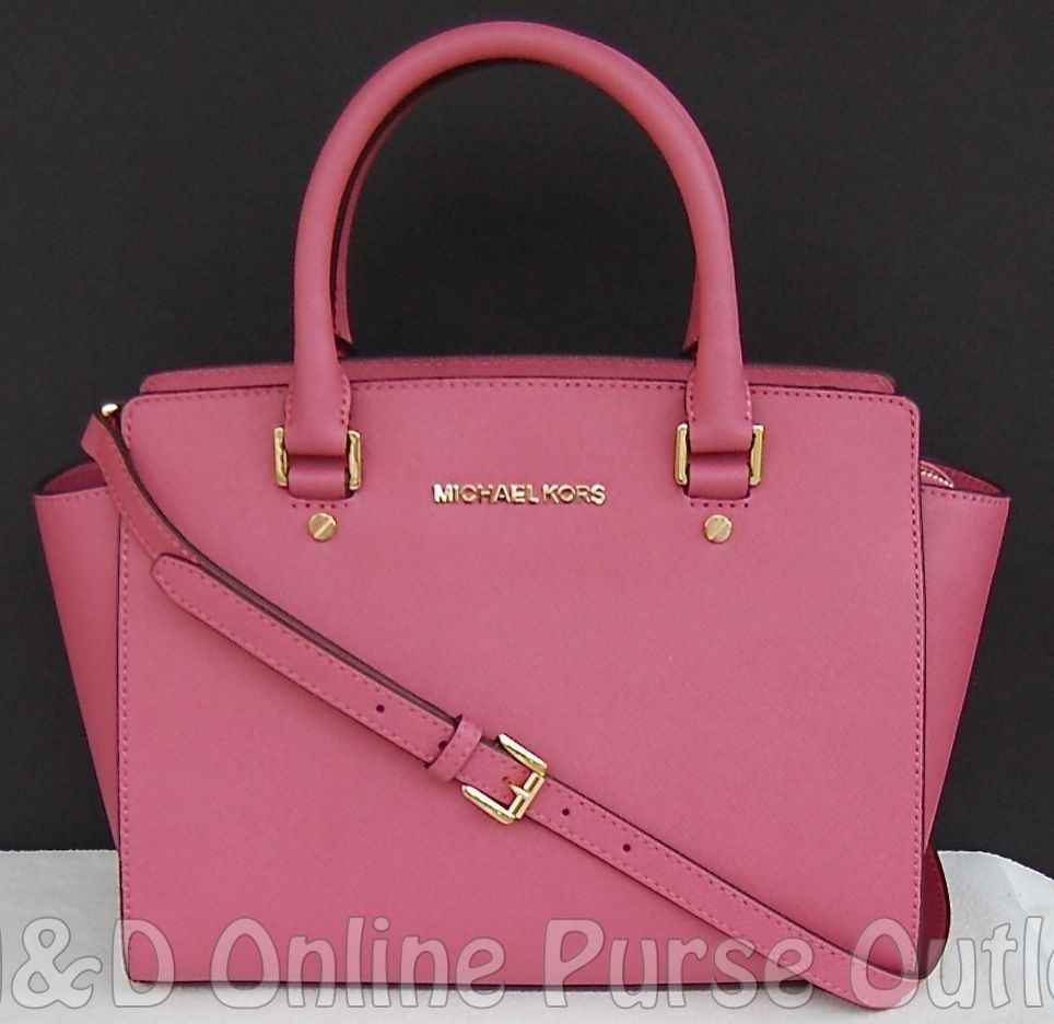 nwt new michael kors saffiano leather selma medium tz satchel purse rh pinterest com