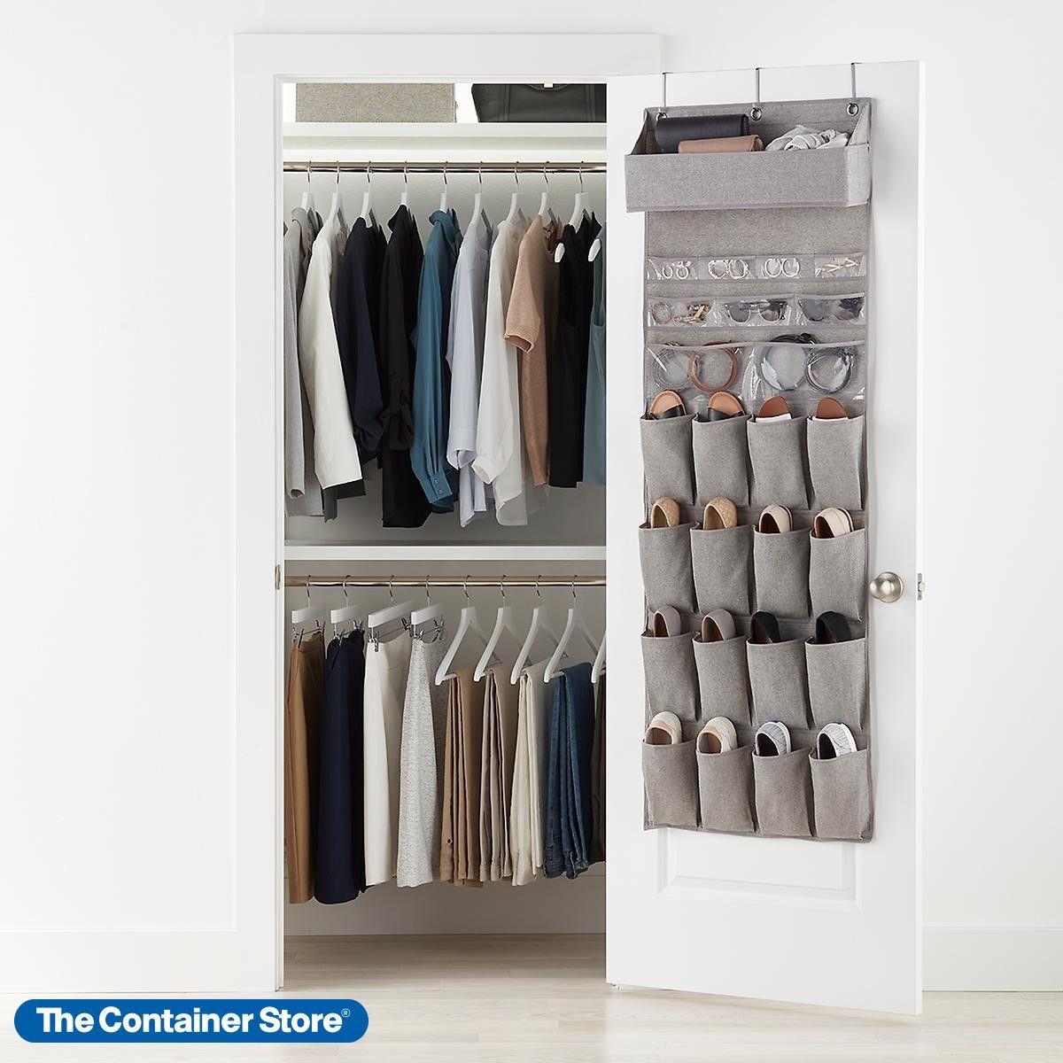 24 Pockets Over Door Hanging Bag Box Shoe Rack Hanger Storage Tidy Closet Holder